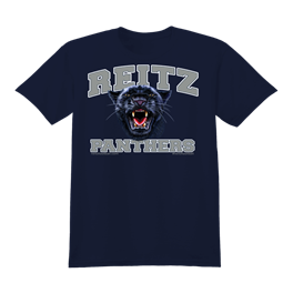 Reitz Panthers White Outline